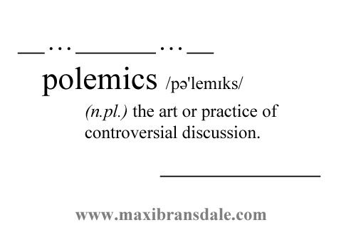 polemical essay Polemical essay - guidelines for writing a political theory polemical essay it is important to understand the position of race within the contemporary american society.
